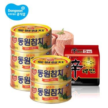 [동원] 라이트스탠다드85gx10캔+신라면5봉