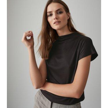 [리스여성] 하이넥 레이온 티셔츠 [672-91-16-001]