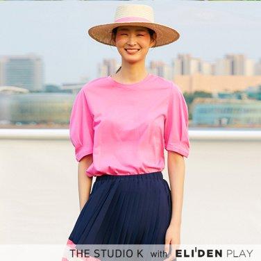 [더스튜디오케이] 19SS 볼륨 슬리브 티셔츠_핑크 (NS-T-K-G-01)