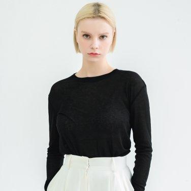Tencel Long Sleeve Tshirts Black(BSTS320_06)