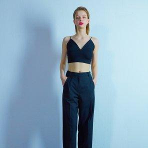 Wide pants 001 Black