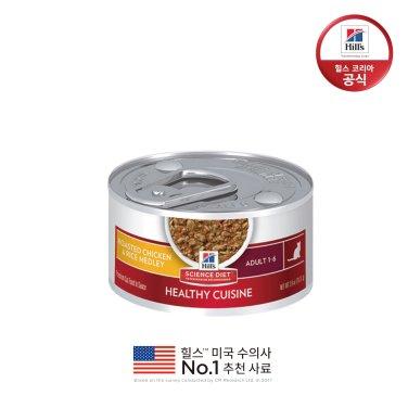 힐스 10445 어덜트 고양이스튜(치킨&쌀) 79g x 12개 + 낚시대 장난감