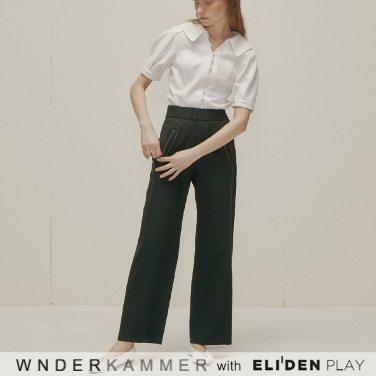[분더캄머:WNDERKAMMER] Round Pocket Trousers_Black (WK9F8-RPPT010)