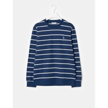 19SS  블루 스트라이프 스웨트 셔츠(BC9141A14P-)