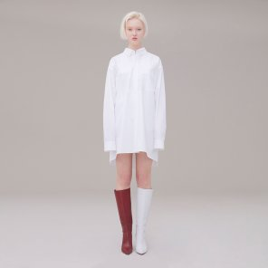 Long shirt 001 White