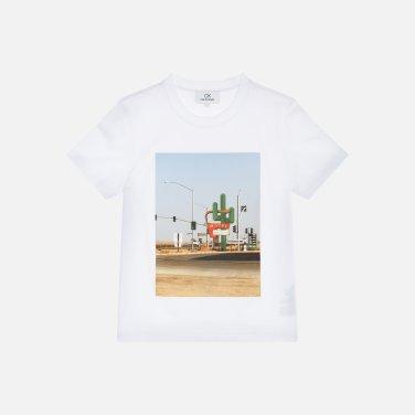 프린트 반소매 티셔츠 (VWMT1KK12AA0)