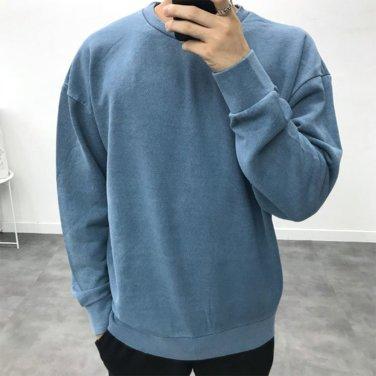 남성 피그먼트 후염 3단 쭈리 빈티지 맨투맨 티셔츠_T0435