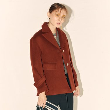 Luox Classic Half Coat_Brick Red (JC19WTCT09BR)
