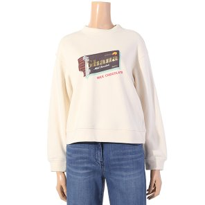 프린팅 크롭 맨투맨 티셔츠(Z194MSM071)