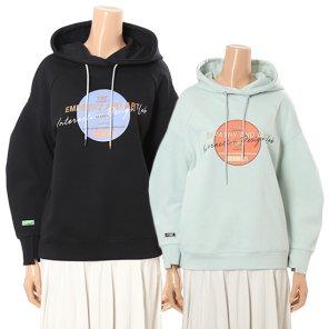 여성용 볼륨소매 후드 프린팅 티셔츠(N201PWT107)