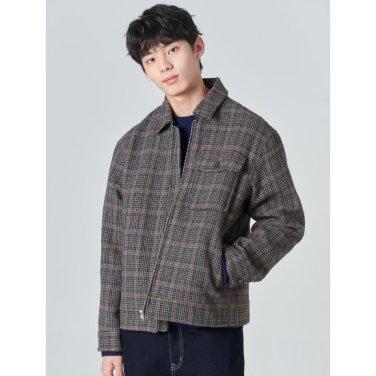 남성 애쉬 하운드 투스 체크 집업 재킷 (420139BY14)