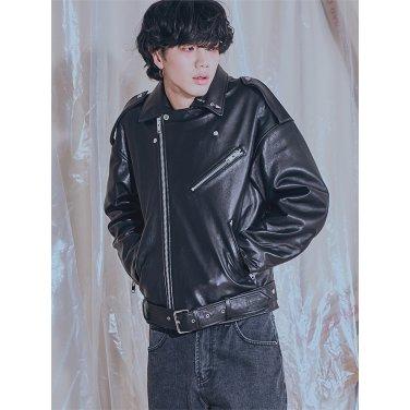 [홀리넘버7] SEVEN Overfit Lambskin Rider Jacket_M