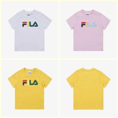 컬러풀 반팔 라운드 티셔츠/FK2RSB2660X