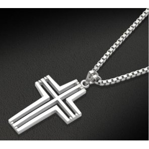 BLENDOFF-Cross Voided Necklace(NECK015)