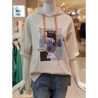 앞 프린트 5부 후드 티셔츠 (BBTD4233)