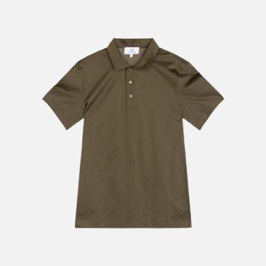 남성 코튼 솔리드 폴로 티셔츠 VMMT1KP008A0G42