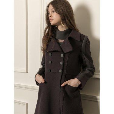 [까이에] Ruffle tiered maxi coat