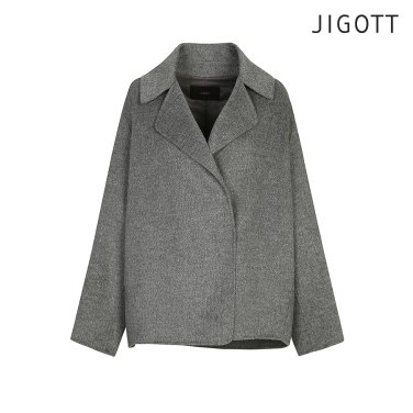 오버핏 울혼방 핸드메이드 숏코트 JHBE0CT54