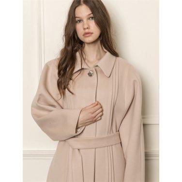 [까이에] Dolman sleeve wool-blend coat