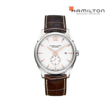 H38655515 재즈마스터 슬림 스몰 세컨즈 화이트 남성 시계