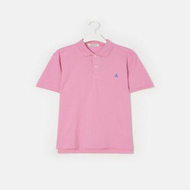 S/S Unisex 핑크 솔리드 칼라 티셔츠(BC9242A01X)