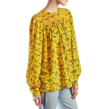 [19S/S] YELLOW FLOWER BLOUSE
