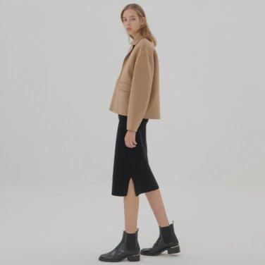 Wool Cashmere Skirt - Black