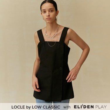 [로우클래식] 19 FALL LOCLE Wrap vest top_black (Z3LCI6TP101)