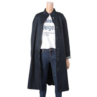 여성 소매턴업 하이넥 트렌치 코트 HU8BB50