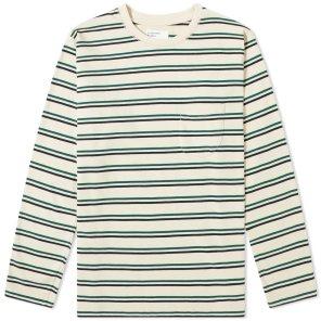롱 슬리브 스트라이프 티셔츠 / 에크루 / UAI2MOL1615EC00