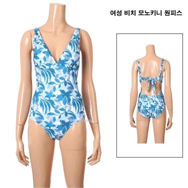 여성 비치 모노키니 원피스 수영복 EVSLE86
