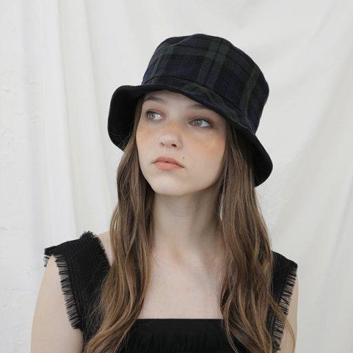 Reversible short bucket hat - Black