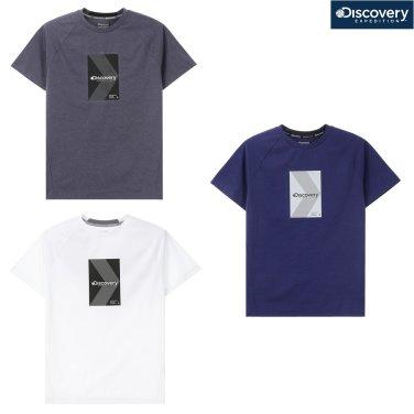 남성 박스형 로고 라운드 티셔츠 DMRT63831