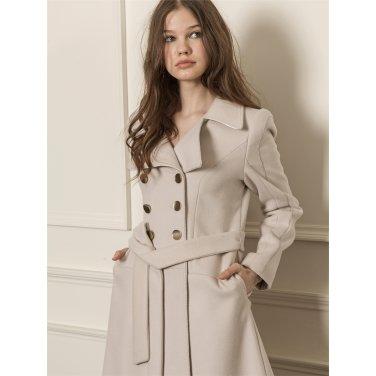 [까이에] Layered pleat coat