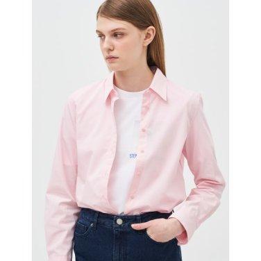 [Online Exclusive] 라이트 핑크 솔리드 베이직 셔츠 (BF9264N01Y)