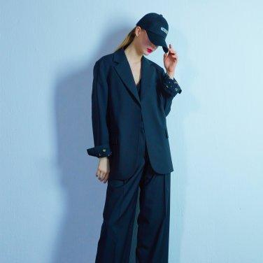 Flower open jacket 009 Black