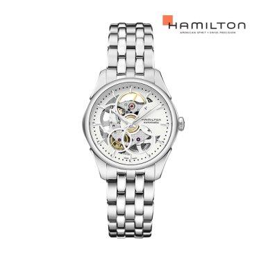 H32405111 재즈마스터 뷰매틱 스켈레톤 레이디 실버 / 메탈 여성 시계
