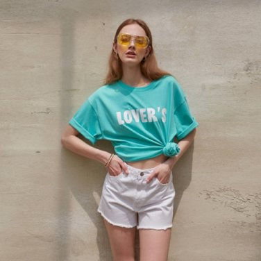 COLOR LETTERING T-SHIRT_MINT