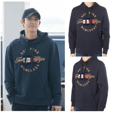 아이콘 타미힐피거 금장 자수 포인트 후드 티셔츠 TMMT1KOE61A0