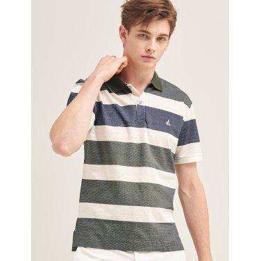 카키 럭비 소로나 칼라 티셔츠 (BC9342A21H-J)