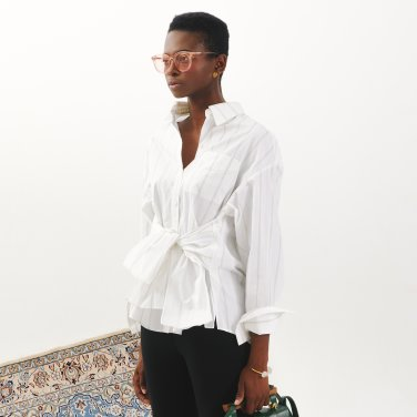Tie Ribbon Shirt_White (JC18FWSH01W)