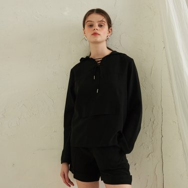Crepe Short Pants _ Black