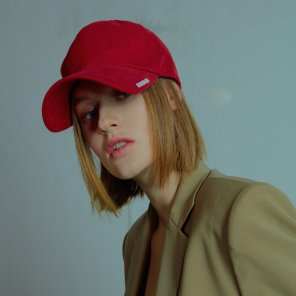 Mudidi basic ball cap 001 Red