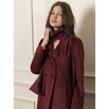 [까이에] Angora coat with scarf