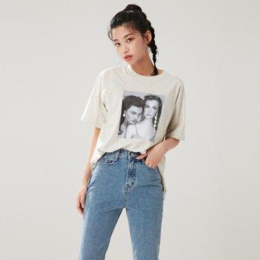 진주 귀걸이 티셔츠 (AL1CT251)