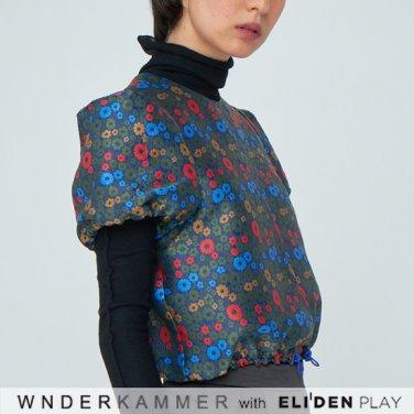 [분더캄머:WNDERKAMMER][트와이스 모모 착용] Flower Jacquard Petite Top (WK9F0-FJTT050)