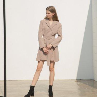[클렛]Double Jacket Belt Dress 2color (19FWCLET15E)