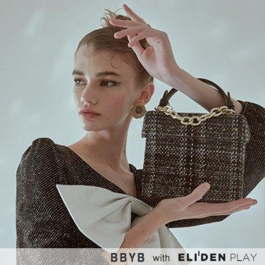 [비비와이비] BBYB Tindy Tweed Square Bag (Black) (09I3210C6J)