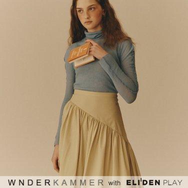 [분더캄머:WNDERKAMMER] Shirring Long Skirt_Yellow (WK9F9-SLSK020)