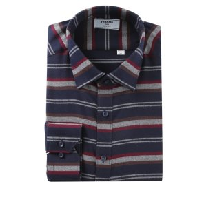 위사스트라이프 기모 슬림핏 셔츠 RIWSL4152NYIL